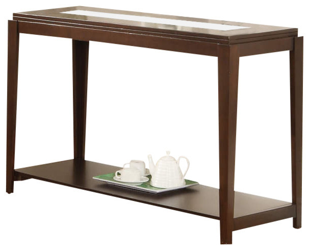 Ice Sofa Table With Cracked Glass Insert Contemporary Console Tables By Modern Furniture