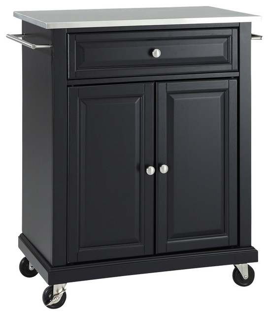 Stainless Steel Top Portable Kitchen Cart Island Traditional Kitchen Islands And Kitchen