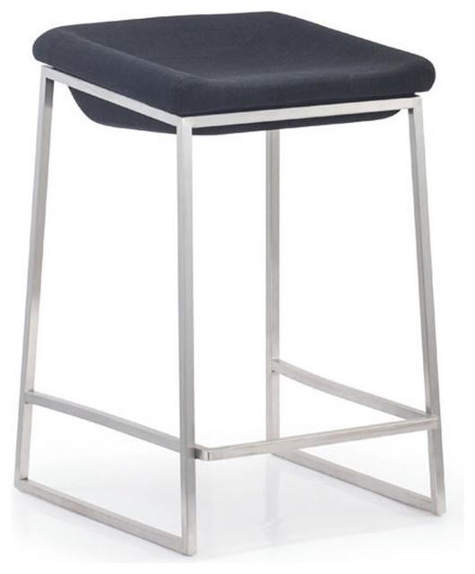zuo modern lids counter chair gray set of 2 modern