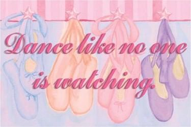 Dance Like No One Is Watching Wall Art modern-artwork
