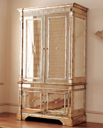 Mirrored Armoire traditional dressers chests and bedroom armoires