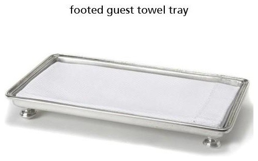 Bathroom Towel Tray Footed Guest Towel Tray Traditional Bathroom