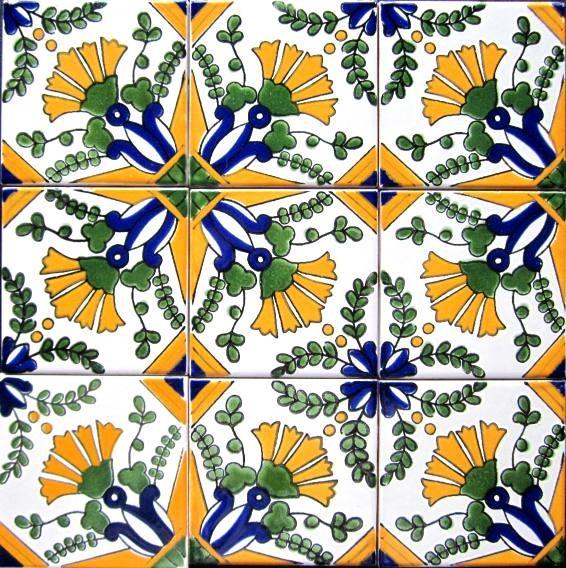 Hand painted 4 x 4 decorative ceramic tiles - Hand painted ceramic tile ...