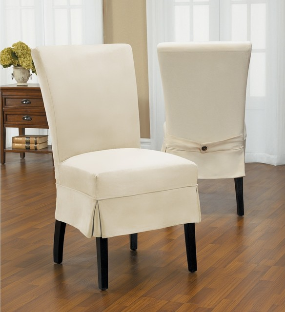 Duck Mid Pleat Relaxed Fit Dining Chair Slipcover with  : contemporary dining chairs from www.houzz.com size 584 x 640 jpeg 58kB
