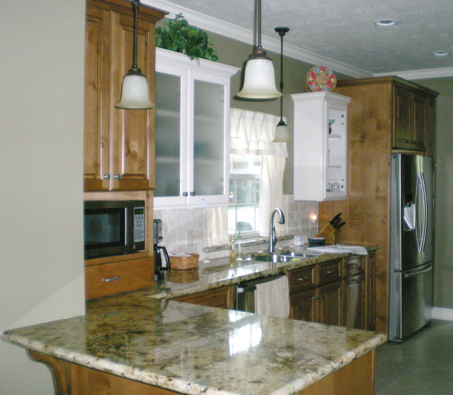 New cabinets 3 different colors kitchen cabinetry for Different color kitchen cabinets