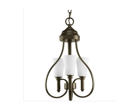 Progress Lighting Flirt Three-Light Hall & Foyer - Three-light semi-flush with white opal glass shade and a hint of delectable curves.