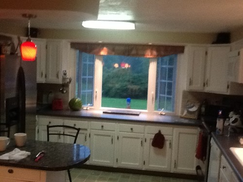 low ceiling in kitchen can we box out for ceiling fan e