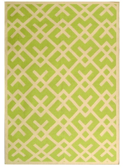 Safavieh Dhurries Light Green Flatwoven eclectic rugs