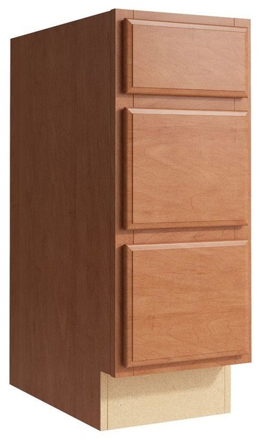 Cardell Cabinets Salvo 12 in. W x 31 in. H Vanity Cabinet Only in Caramel - Contemporary ...