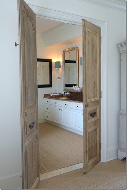 Doors to master for Master bathroom entrance