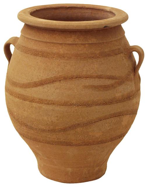 Greek Pithari mediterranean-outdoor-pots-and-planters