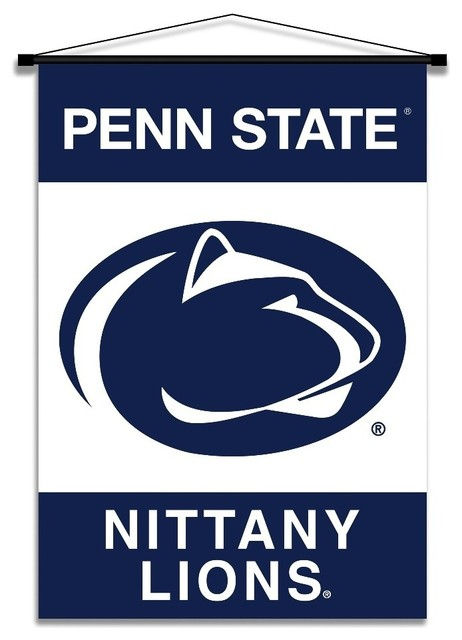 Penn state university ncaa indoor banner scroll modern for Penn state decorations home