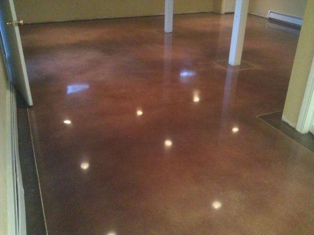 Polished Concrete Floor W 2 Tone Dye