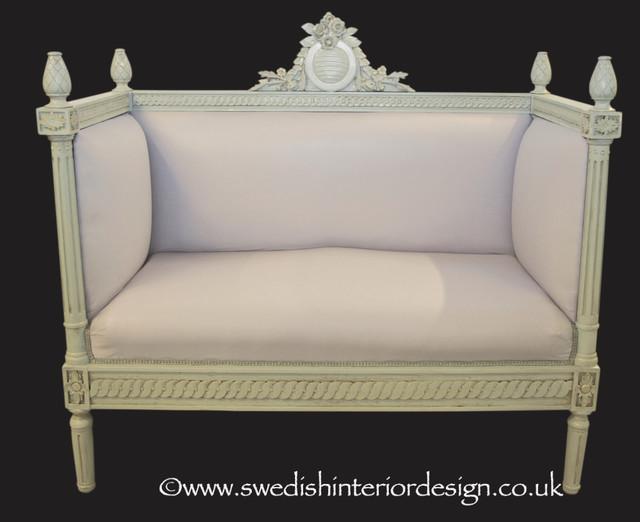 Swedishinteriordesign.co.uk Handmade Bespoke Gustavian Sprung Settl traditional-furniture