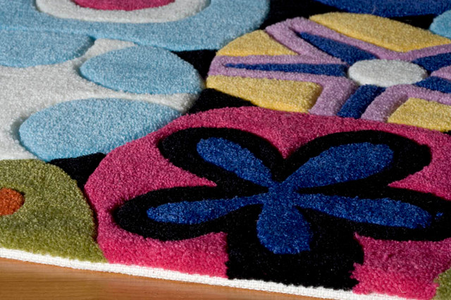 Mille Fleur Area Rug contemporary-kids-rugs
