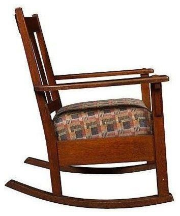 Pre-owned Oak Mission Style Rocking Chair - Craftsman - Rocking Chairs