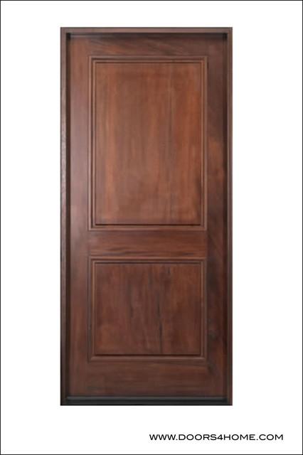 Walnut Entry Door Model # A76 traditional-front-doors