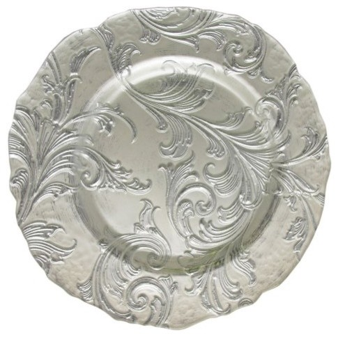 Charge it by Jay Vanessa Silver Charger Plate modern-charger-plates
