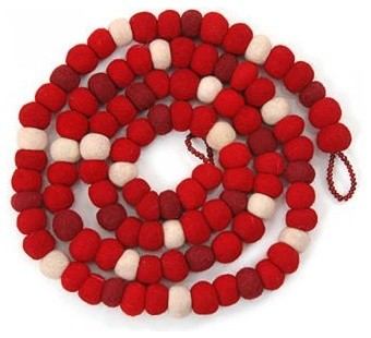 Felt Garland: Red modern-wreaths-and-garlands
