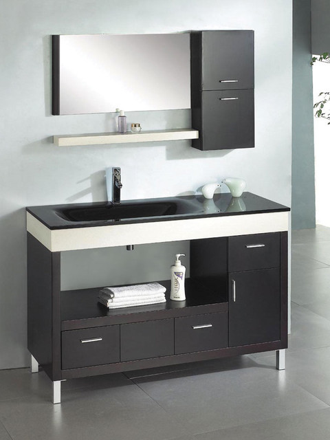 Ariel z w002 ceasar 55 modern bathroom vanity modern for Bathroom cabinets modern