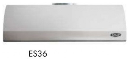 """TRAD ES-36 36"""" Wide x 12"""" High Wall Mount Hood with 600 CFM Internal Blower  4 L contemporary-range-hoods-and-vents"""
