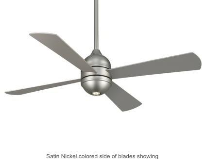Fanimation Quatro Ceiling Fan in Satin Nickel contemporary-ceiling-fans