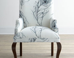 Black & White Feather Host Chair traditional-armchairs