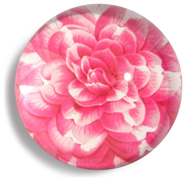 Pink Botanical Paperweight traditional-desk-accessories