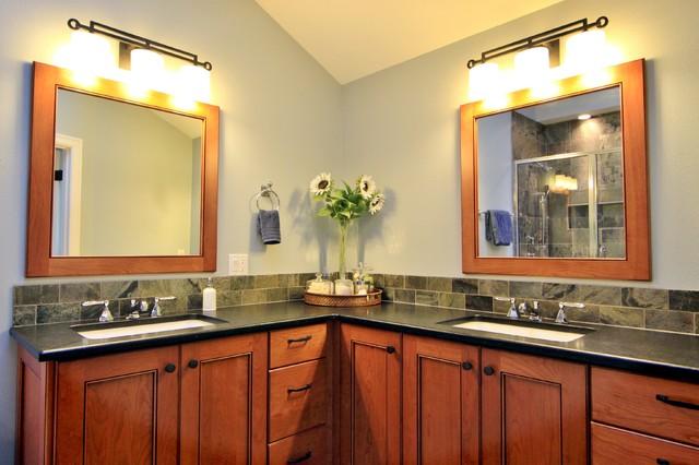 Double Vanities Corner Pullout Blind Cabinet