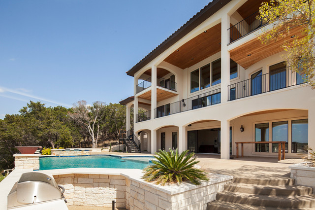 Lake travis waterfront home in lago vista austin by for Lago vista builders