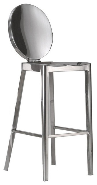 Philippe Starck Style Ghost Counter Chair contemporary-living-room-chairs