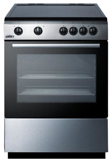 Summit classic 24 inch slide in electric range black clre24 modern gas ranges and electric - Inch electric range reviews ...