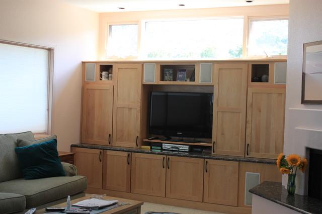 Hursig Kitchen, Entertainment Center, & Master Bath - Modern - Entertainment Centers And Tv ...