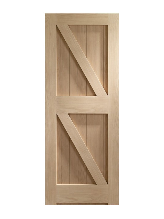 Doors by ABL Doors - This stylish oak frame ledge braced door is reminiscent all of the best features of the past. A traditional oak frame sets this door apart from other styles and it makes a great feature in both modern homes looking for a twist or in old homes wishing to mix the best of the present and future.