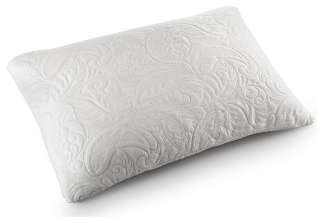 Modern Home Gel Pillow : Gel Bliss Queen-size Italian Shredded Gel Memory Foam Pillow - Contemporary - Pillows - by ...