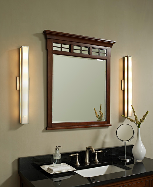 Greta wall sconce contemporary bathroom vanity for Contemporary bathroom wall sconces