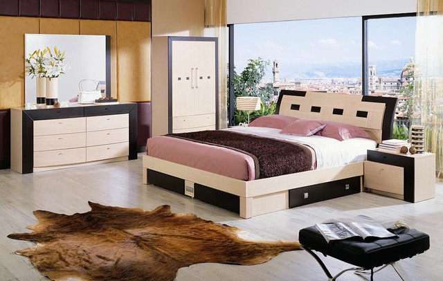 wooden bed designs with storage