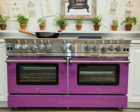 """BlueStar 60"""" Platinum Range - Showcasing our 60"""" BlueStar Platinum Range at the 2014 Architectural Digest Show with Wok Cooking ability and interchangeable griddle/charbroiler and offering 25,000 BTU Burners"""