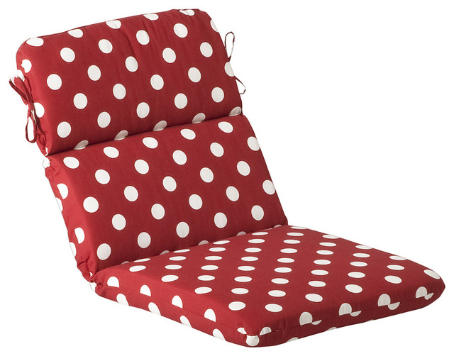 Pillow Perfect Outdoor Red White Polka Dot Round Chair  : contemporary outdoor pillows from www.houzz.com size 640 x 502 jpeg 78kB
