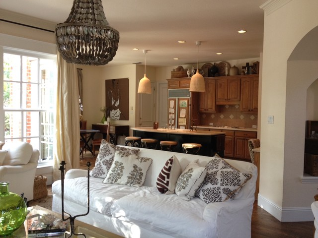 Relaxed Family Room Eclectic Living Room Dallas By