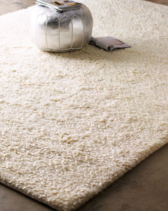 White Shag Rug traditional-rugs