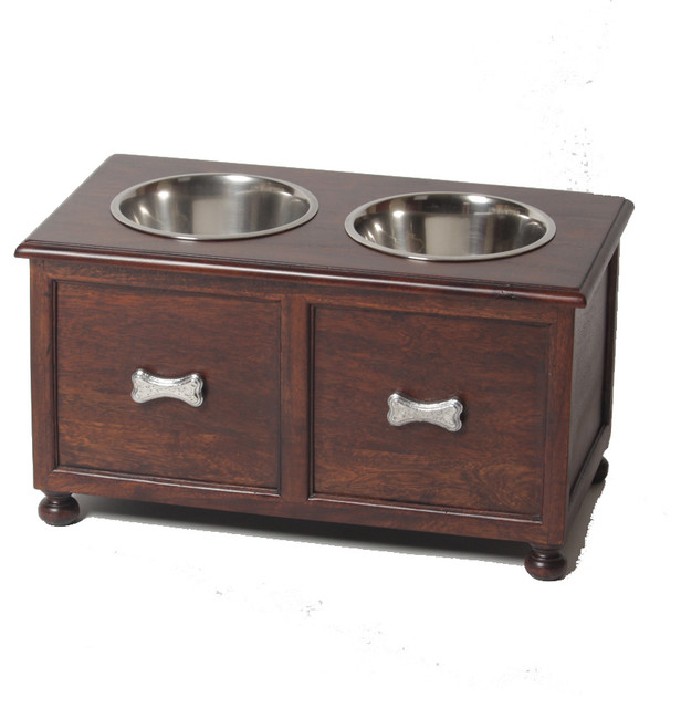 Large Traditional Elevated Dog Feeder