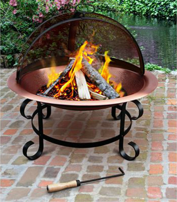 Copper Fire Pit contemporary firepits