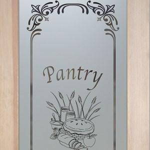 Pantry Door - Lenora Apple Pie eclectic-pantry-and-cabinet-organizers