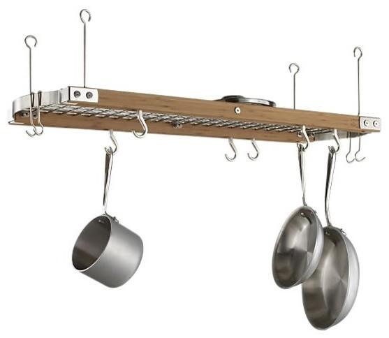 Large Bamboo Ceiling Pot Rack modern-pot-racks