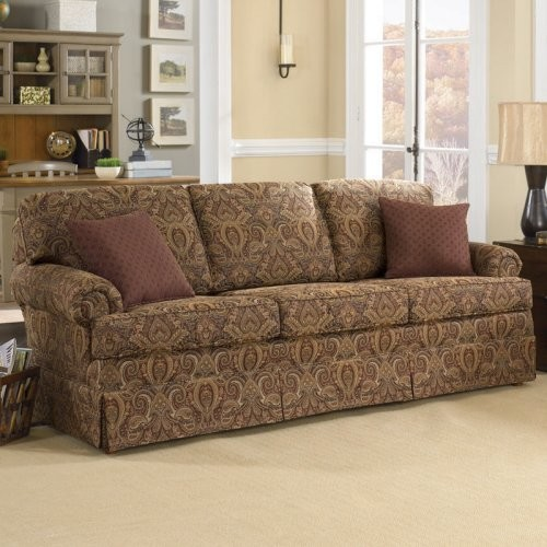 Charles Schneider Altus Brick Fabric Sofa With Accent Pillows Traditional Sofas By Hayneedle