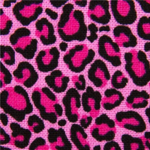 Pink fabric with leopard pattern by timeless treasures usa fabric
