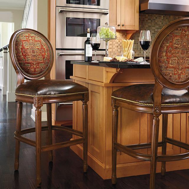 "Langston Bar-height Bar Stool (30""H seat) - Black, Quick Ship traditional-bar-stools-and-counter-stools"