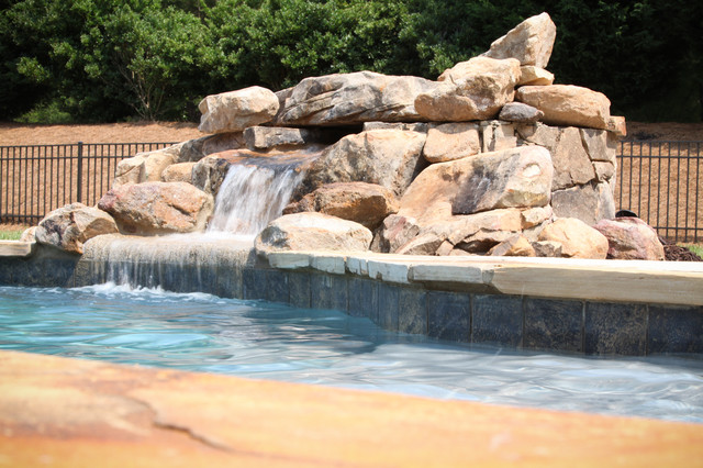 Water & Hardscape Features eclectic-pool
