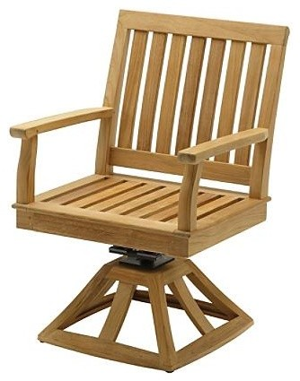 Cape Swivel Rocker Dining Arm Chair with Cushion, Patio Furniture traditional-rocking-chairs